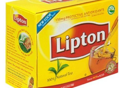 lipton tea at Tyler mountain water and coffee