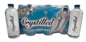 Crystilled vapor distilled electrolyte water