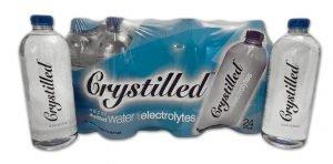 Crystilled vapor distilled electrolyte water