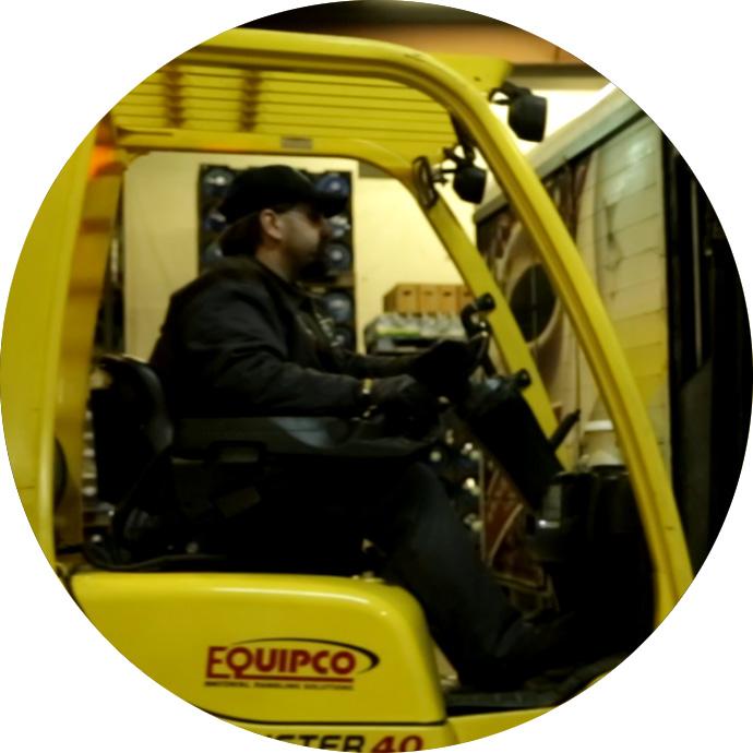 paul loading a truck